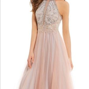 Long formal halter dress